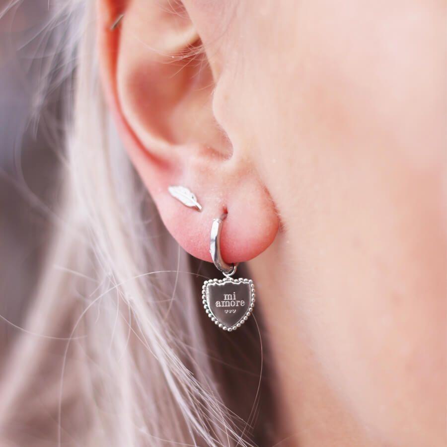 zilveren oorring